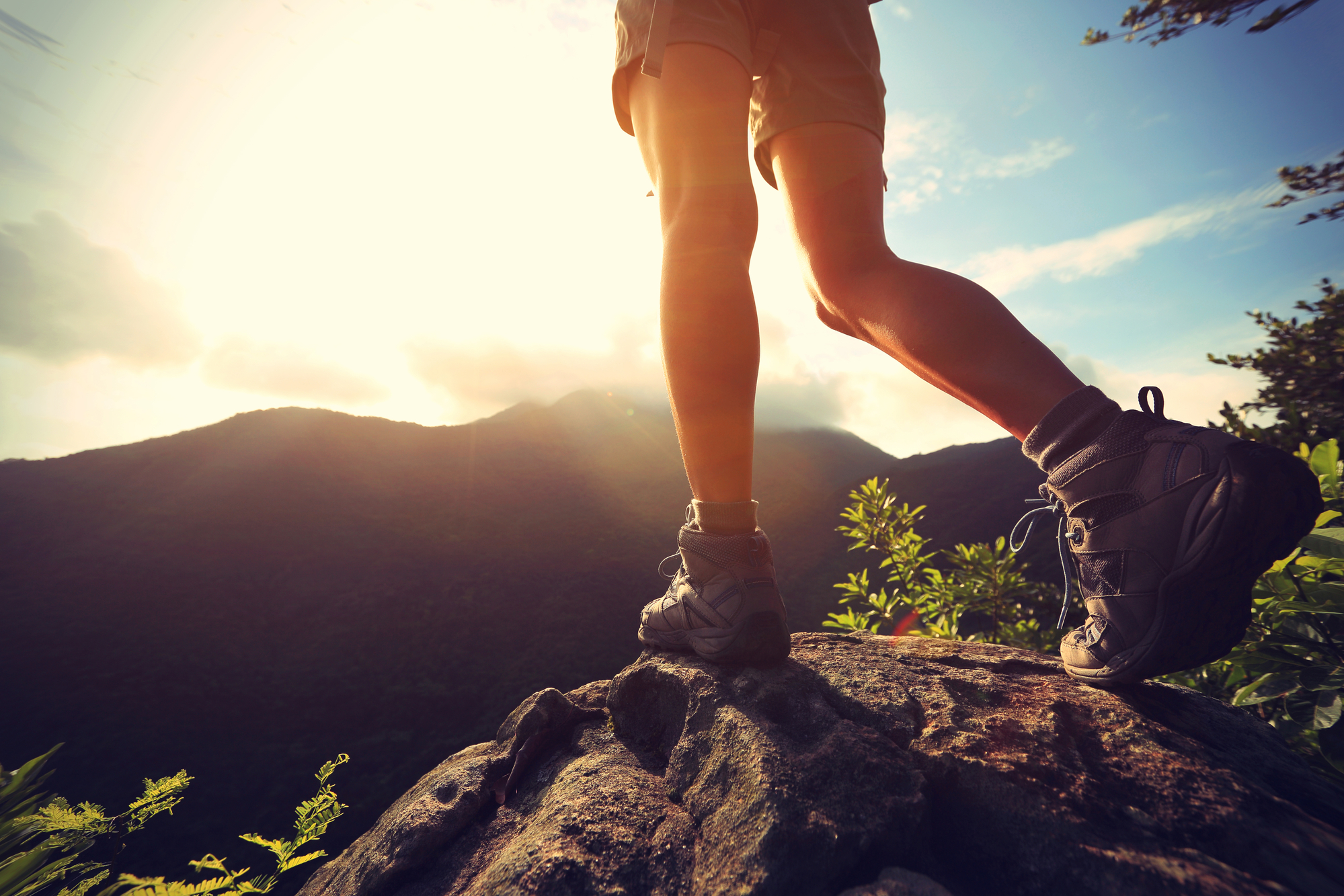 hiking boots to help prevent injury